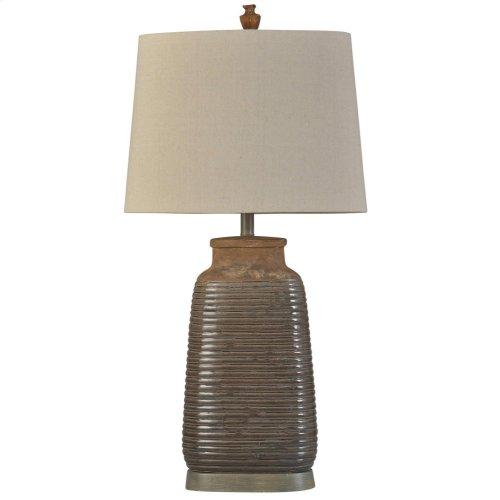Armond Brown Traditional  Ceramic Table Lamp 100W 3-Way Hardback Shade