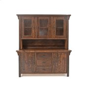 Oak Haven - 2 Piece Buffet and Hutch - (3 Drawer 2 Door Buffet) Product Image