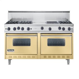 "Golden Mist 60"" Open Burner Commercial Depth Range - VGRC (60"" wide, six burners 12"" wide griddle/simmer plate 12"" wide char-grill)"