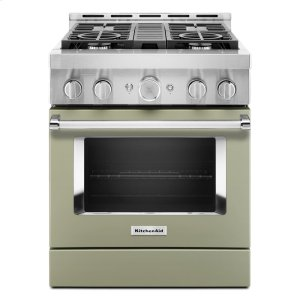 KitchenAidKitchenAid® 30'' Smart Commercial-Style Gas Range with 4 Burners - Avocado Cream