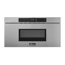 """Modernist 30"""" Microwave-In-A-Drawer, Silver Stainless Steel"""