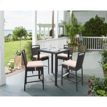 Tropez Outdoor Patio Wicker Bar Set