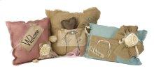 Shaw Burlap Pillows - Set of 3