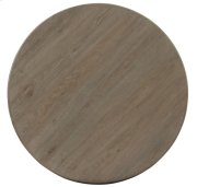 Auberge Round Dining Table Top and Metal Dining Table Base in Auberge Weathered Oak (351) Product Image