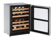 "24"" Wine Captain ® Model Stainless Frame (Lock) Left-Hand Hinge"