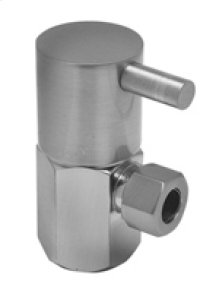 """Contemporary Lever Handle Angle Valve - 1/2"""" Female IPS Inlet X 3/8"""" O.D. Compression Outlet - Brushed Nickel"""