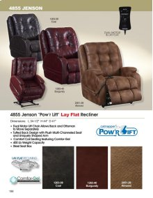 Jensen Lift Chair with Lay Flat feature and DUAL Motor