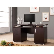 Contemporary Cappuccino Computer Desk