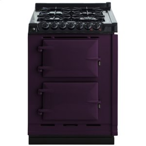 "AGAAGA Module 24"" Electric/Natural Gas Aubergine with Stainless Steel trim"