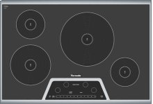 """CIT304GB Masterpiece 30"""" Induction Cooktop Black with Stainless Steel Frame"""