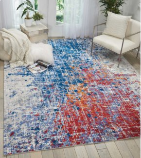 Twilight Twi25 Red/blue Rectangle Rug 5'6'' X 8'