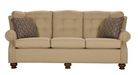 Sofa with Oak fluted spindle leg
