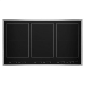 "Jenn-AirLustre Stainless 36"" Induction Flex Cooktop"