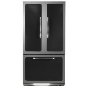 Black Classic French Door Refrigerator - BLACK
