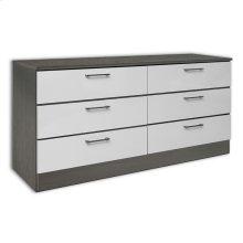 White & Grey Wood Veneer Dresser