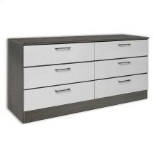 White & Grey Wood Veneer Dresser