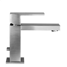 "Single lever washbasin mixer with pop-up assembly Spout projection 5-1/16"" Height 5-15/16"" Includes drain Max flow rate 1"