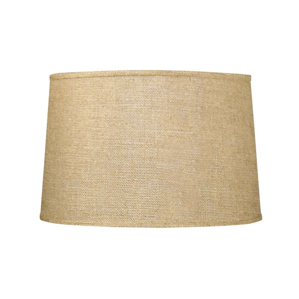Shade 15-inch with Nickel, Burlap