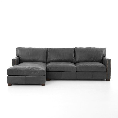 Rider Black Cover Larkin 2 Piece Sectional W/ Left Arm Facing Chaise