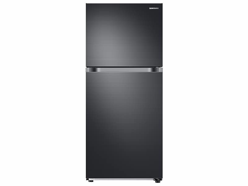 Samsung18 Cu. Ft. Top Freezer Refrigerator With Flexzone™ And Ice Maker In Black Stainless Steel