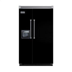 "Black 48"" Side-by-Side Refrigerator/Freezer with Dispenser - VISB (Integrated Installation)"