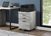 FILING CABINET - 3 DRAWER / GREY RECLAIMED WOOD / CASTORS