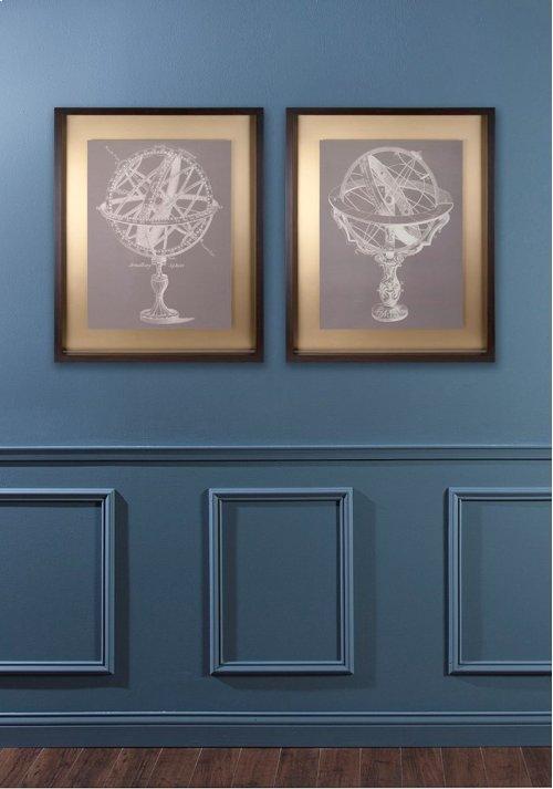 Beth Kushnick Armillary Framed Wall Art - Ast 2