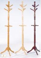 Oak Finish Hall Tree & Umbrella Rack Product Image