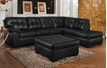 Soho Onyx Bonded Left Facing Sofa