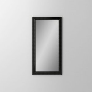 """Main Line 15-1/8"""" X 29-7/8"""" X 1-5/8"""" Bryn Mawr Framed Mirror In Brushed Black Product Image"""