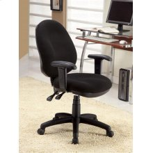 "OFFICE CHAIR,BLACK 25""Dx25-3/4""Wx39""H"