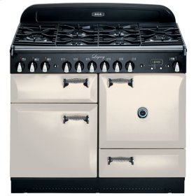 "Ivory with solid doors AGA Legacy 44"" Dual-Fuel Range"