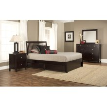 Metro 4pc Queen Espresso Bedroom with Liza Storage Bed