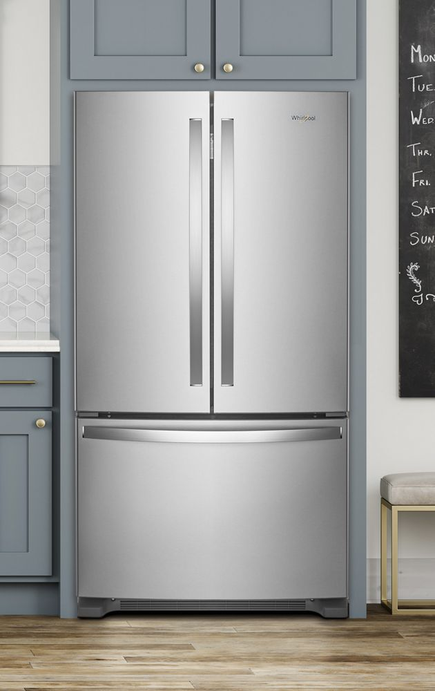 36 Inch Wide French Door Refrigerator With Water Dispenser   25 Cu. Ft.
