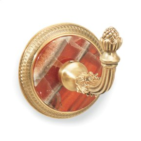 Butler Silver White Onyx Knurled Hook