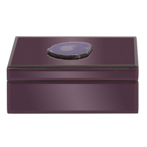 Amethyst Purple Geode Jewelry Box