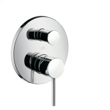 Brushed Nickel Single lever bath mixer for concealed installation with round lever handle
