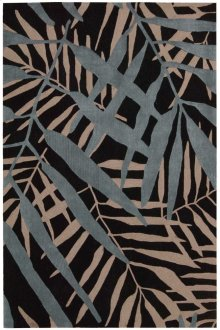 Contour Con14 Black Rectangle Rug 7'3'' X 9'3''