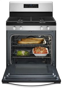 5.0 cu. ft. Front Control Gas Range with Fan Convection Cooking