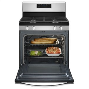 5.0 cu. ft. Front Control Gas Range with Fan Convection Cooking -