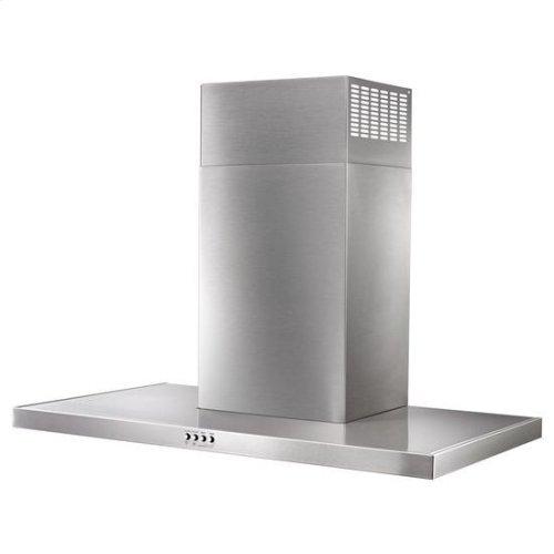 "36"" Stainless Steel Wall Mount Flat Range Hood - stainless steel"
