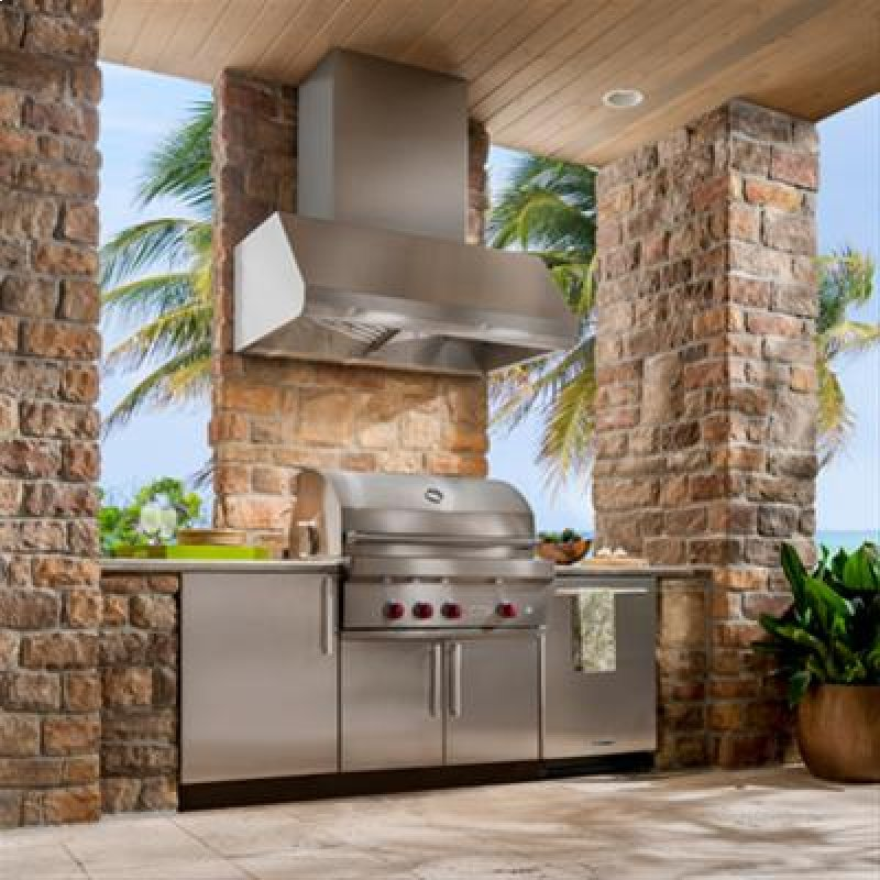 48 Ss Pro Style Range Hood With Extra Large Capture Designed For Outdoor Cooking