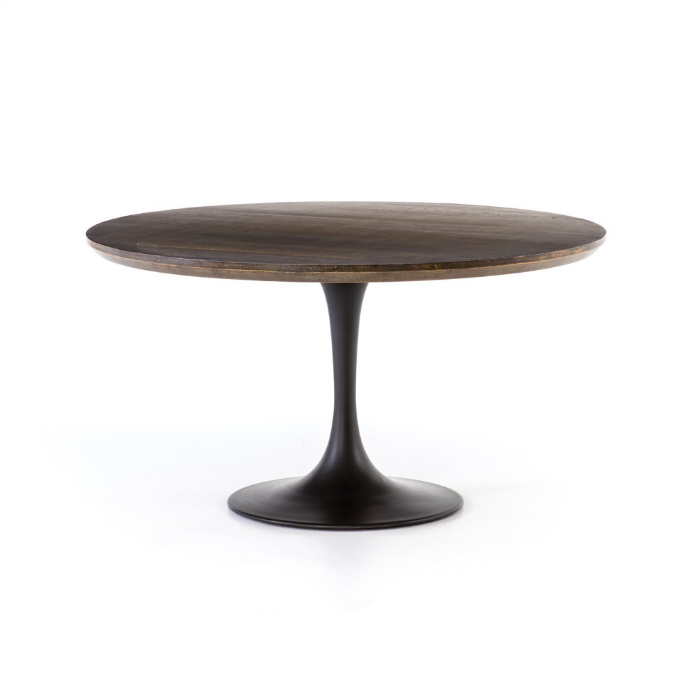 """English Brown Oak Finish 55"""" Size Powell Dining Table"""
