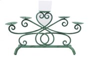 Turquoise Iron Candle Stand Product Image