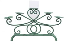 Turquoise Iron Candle Stand