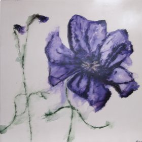 Art: Blue Pansy