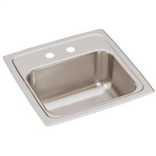 "Elkay Lustertone Classic Stainless Steel 15"" x 15"" x 7-1/8"", Single Bowl Drop-in Bar Sink"