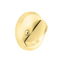 One Sided Deadbolt with Exterior Plate - Bright Brass