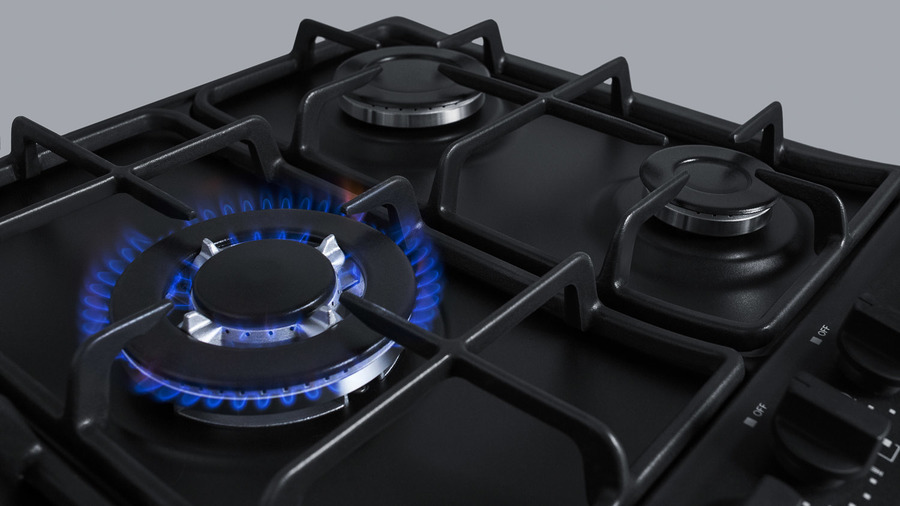 ef6e87ef2 Summit 5-Burner Gas Cooktop Made In Italy In Black Matte Finish With Sealed  Burners
