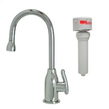 Francis Anthony Collection - Point-of-Use Drinking Faucet with Modern Curved Body & Handle & Mountain Pure® Water Filtration System - Polished Chrome